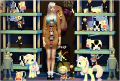 "sssvitlans: "" Downloads sims 4: Decoration for kids Vol7 (Biddaddydoll, Evils, Cow, Little pony, Bender) by JenniSims Download """