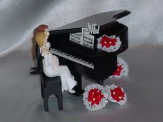 Piano Couple On Cake Wedding Topper Fun Black more at Recipins.com
