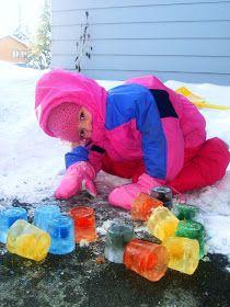 Motherhood for Dummies: Winter Activities - Colored Ice Blocks