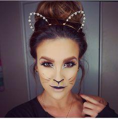 Halloween cat makeup by Nicole Guerriero!