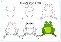 Learn to Draw a Frog http://www.activityvillage.co.uk/learn_to_draw_animals.htm