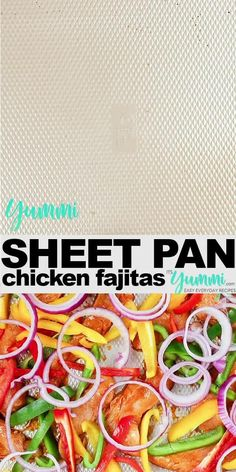 Sheet Pan Chicken Fajitas are a perfect weeknight dinner packer with flavor and easy to whip up. This easy chicken dinner BONUS is it's clean up is an absolute breeze! Best Chicken Dinner idea for the weeknight. Easy Weekday Meals, Easy Weeknight Meals, Easy Dinners, Supper Recipes, Easy Dinner Recipes, Easy Recipes, Dinner Ideas, New Easy Recipe, One Pan Dinner