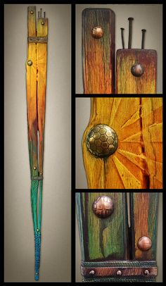 Mixed media art totems by Brian Giberson of Indigo Lights Art Sculpture, Wall Sculptures, Mixed Media Sculpture, Painted Sticks, Junk Art, Driftwood Art, Assemblage Art, Jewelry Companies, Mixed Media Collage