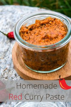 Rezept für selbstgemachte feurig scharfe Curry Paste