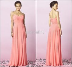 After Six 6639 Wholesale Lace Prom Dress - Buy 2014 Bridesmaid Dresses Sweetheart Chiffon Coral Floor-Length Column Pleated Ruched Ruffle Party Dresses After Six 6639, $60.74   DHgate