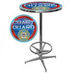 """US Coast Guard Pub Table    Chris's wedding gift for the """"man room"""" possibly...shhh don't tell him :)"""