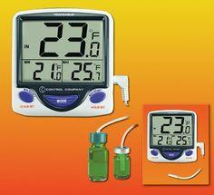 BIG DIGIT JUMBO REFRIGERATOR THERMOMETER, F/C, -50 TO 70C, PROBE IN BOTTLE, CONTROL COMPANY 4548 by Control Products. $58.19. TRACEABLE JUMBO