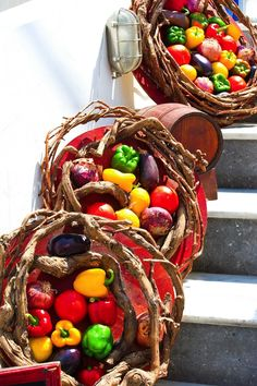 Local produce, colorful vegetables