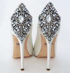 Perfect Details Shoe Promo #weddingheels #gottabetheshoes #weddingbling