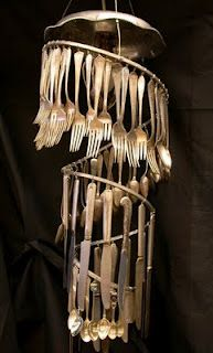 Repurpose silverware into home décor design!