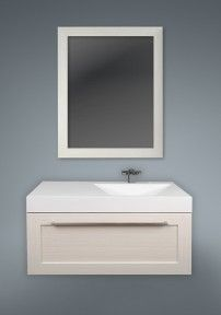 "1 DRAWER SILHOUETTE PLUS VANITY AVAILABLE IN: 36"" #vanity #drawers #sink #lightcabinets #lightwood #bathrooms #interiordesign #renovations #CutlerKitchenandBath"