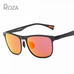 44699c5bad ROZA Polarized Sunglasses Men Vintage Brand Designer Ultra-light Aluminum  Magnesium Alloy Steampunk Sun Glasses