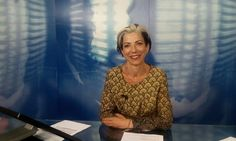 TV Journaliste Alessandra Addari, humour et beauté
