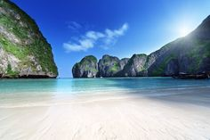 "Maya Bay, Phi Phi Don. Thailand You probably seen the movie ""The Beach"" Its here that they recorded the film  If you wanna avoid the crowds of tourist, then make sure, that you come here in the morning, like I did"