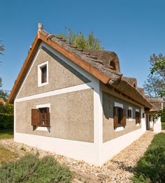 Szigliget - Nyaraló - Vidéki hangulat Rural House, Traditional House, Tiny House, Gazebo, House Plans, Sweet Home, Shed, Farmhouse, Cottage