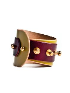 Una Burke Spiral Cuff - 100% vegetable tanned leather made in South London by Limerick designer Una Burke
