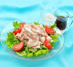 Reishabu Chilled Sliced Pork Salad with Ponzu Recipe - Japan Centre Easy Japanese Recipes, Japanese Food, Gourmet Recipes, Cooking Recipes, Healthy Recipes, Ponzu Recipe, Pork Salad, Tofu Dishes, Shabu Shabu