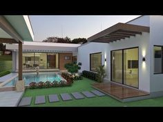 The Good, the Bad and Dream House Architecture If your home lacks an impressive appearance, it's time to make it best by installing a metallic ceiling so that you are able to fulfill your expect interior looks. Dream House Exterior, Dream House Plans, Modern House Plans, Modern House Design, Dream Houses, Village House Design, Village Houses, Casa Patio, Backyard Patio