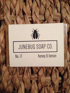Honey & Lemon handmade bar soap.  Available from Junebug Soap Co. at www.etsy.com/shop/JunebugSoapCo