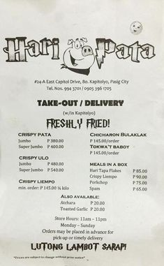 But this one's not for the faint of heart. 23 Filipino Stores That Were Named By Absolute Geniuses Crispy Pata, Filipino Culture, Force One, Life Humor, Funny Signs, Puns, Hair Cuts, Names, Funny Life