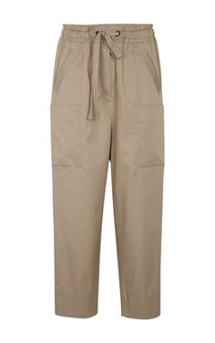 This **Dorothee Schumacher** Sporty Cool Pants features a cargo-inspired design with a drawstring waistband and multiple pockets.