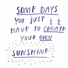 Lots of rain in Belgium! So we're creating our own sunshine! Hand lettering by Lies Smets