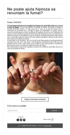 Ne poate ajuta hipnoza sa renuntam la fumat? Holding Hands