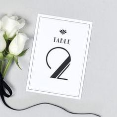 Estelle Table numbers Monochrome Weddings, Table Cards, Table Numbers, Art Deco Fashion, Wedding Inspiration, Colours, Prints, Wedding Table Numbers