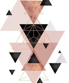 'Geometric Triangles in blush and rose gold' Canvas Print by UrbanEpiphany Abstract geometric triangle design in pink blush, black and rose gold. Screen Wallpaper, Cool Wallpaper, Wallpaper Backgrounds, Geometric Wallpaper Iphone, Mobile Wallpaper, Iphone 7 Plus Wallpaper, Watch Wallpaper, Islamic Wallpaper, Backgrounds Marble
