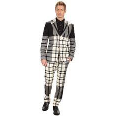 Vivienne Westwood MAN Regular Slim Fit Tartan Suit ($834) ❤ liked on Polyvore featuring men's fashion, men's clothing, men's suits, suits, tartan, mens wool suits, mens plaid suit, mens slim suits, mens slim cut suits and mens slim fit suits