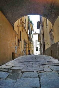 Moncetti lane, Pistoia, Tuscany, Italy