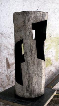 Alban LANORE - sans titre / wood sculpture / burned