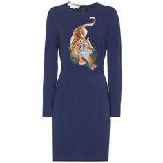 Stella McCartney Embellished Dress ($1,765) ❤ liked on Polyvore featuring dresses, blue, embelished dress, stella mccartney, blue dress, stella mccartney dresses and embellished dress