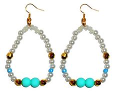 Chipina white bead earrings