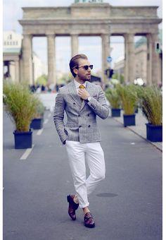 Ray Ban Sunglasses, Zara Blazer, Asos Trousers, Asos Shirt, Daniel Wellington Watch, Hugo Boss Pocket Square, Asos Shoes