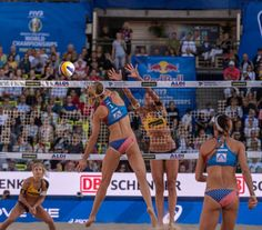 Reigning world and Olympic champion Laura Ludwig delighted the Hamburg crowds with her comeback in the city where she won the World Tour Finals in April Ross, Kerri Walsh Jennings, Tie Break, Olympic Champion, Beach Volleyball, World Championship, Comebacks, Finals, Olympics