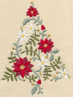 L 5209, L5210, L5211, L5212, L5213, 5 sizes lovely Christmas tree machine Embroidery Designs at Embroidery Library! -