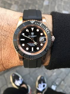 Montres BLACKOUT Archives - Blackout Concept Ocean Master, Field Watches, Herren Outfit, Pink And Gold, Rolex Watches, Bracelet Watch, Concept, Style Clothes, Bracelets