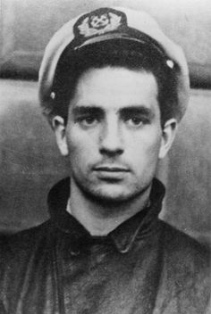 Jack Kerouac in Merchant Marine cap, 1944 by pitoucat, via Flickr
