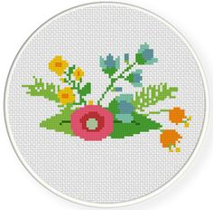 Elegant Flower 5  Cross Stitch Pattern