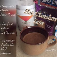 Just on of the delicious 🤤 recipes for our Avon Espira health and wellness product! Healthy Hot Chocolate, Frozen Hot Chocolate, Sugar Free Chocolate, Chocolate Fudge, Health And Nutrition, Health And Wellness, Shredded Body, Fun Cup, Some Recipe