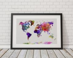 World Map Posters by TheBohoWordsmith on Etsy