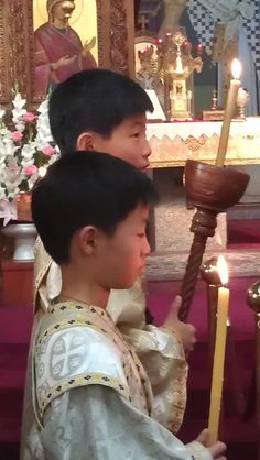 South Korean Orthodox Altar Servers