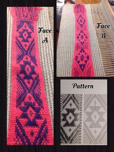 Tejido Mapuche Inkle Weaving, Inkle Loom, Card Weaving, Tablet Weaving, Finger Weaving, Passementerie, Weaving Projects, Textiles, Weaving Patterns
