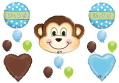 Amazon.com: It's a Boy Monkey BABY Shower Balloons Decorations Supplies Jungle Safari: Everything Else