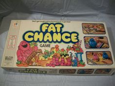 RARE Vintage MB Fat Chance Board Game Complete Don't Get Caught Eating Junk Food - Can't Resist Vintage