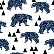 geo bear // camping blue navy kids room triangles mountains boy nursery by andrea_lauren