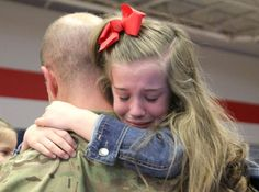 "11 Month Deployment comes to and End for little Hailey! ""For almost a year, Hailey Meyers fell asleep without hearing a bedtime story from her dad.""    ""He's very sweet,"" said Hailey, 7, as the excitement of her dad, Chief Warrant Officer-3 Joseph Meyers, returning from an 11-month deployment grew.    Read More: http://kdhnews.com/military/unit-returns-from-afghanistan-after--month-deployment/article_9dc761b8-70db-11e2-955f-001a4bcf6878.html?mode=story"