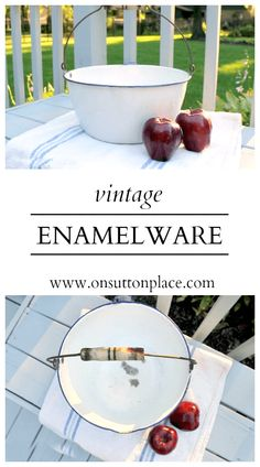 Vintage Enamelware Enamelware? Another farmhouse style essential?? I think so!