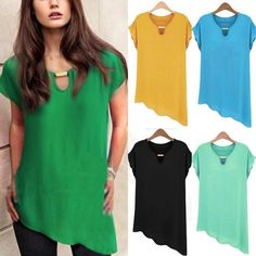 Women Summer Loose Casual Chiffon Sleeveless Vest Shirt Tops Blouse Ladies Top #Unbranded #Tops #Casual